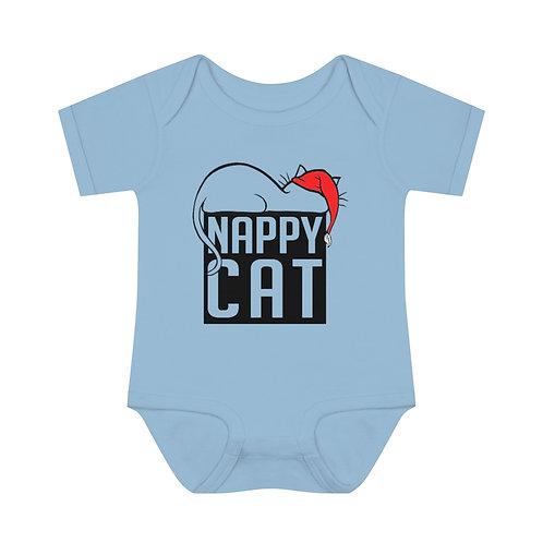 NAPPY CAT 2 | INFANT BABY RIB BODYSUIT