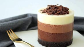 """Муссовый десерт """"Три шоколада"""""""