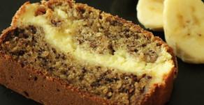 Банановый хлеб с сырным кремом