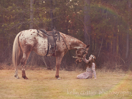 A girl, a grandpa, and a horse {styled session}