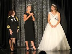 Aquatennial Captain Terri Kane and Princess Amber Watkins with Anna Lucas