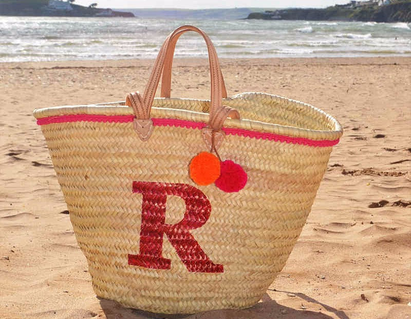 CUSTOM-MADE PERSONALISED & MONOGRAM BASKETS | personalised beach bag