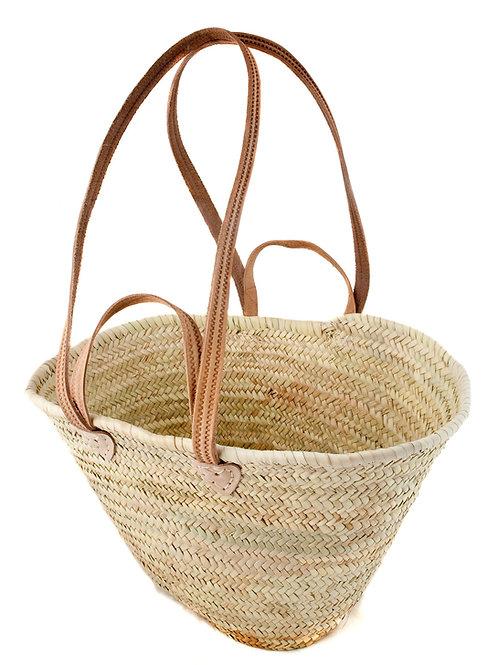 Plain Palm Straw Basket