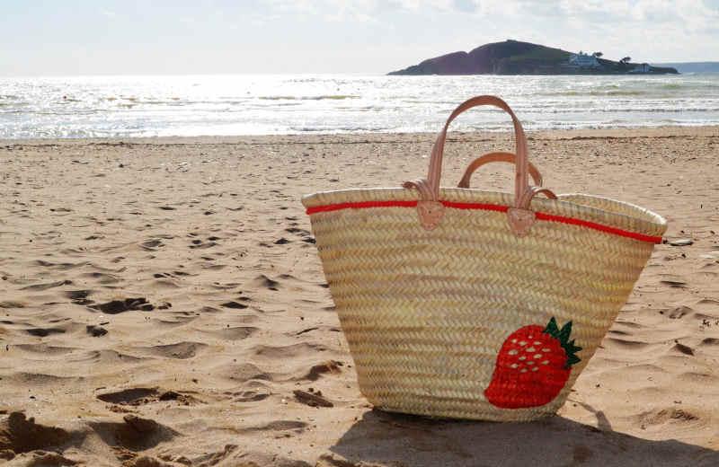 customised beach bag