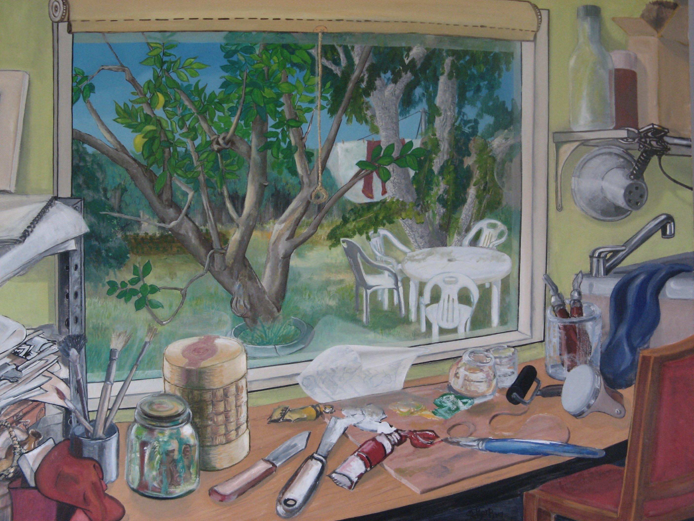 Studio Window Backyard