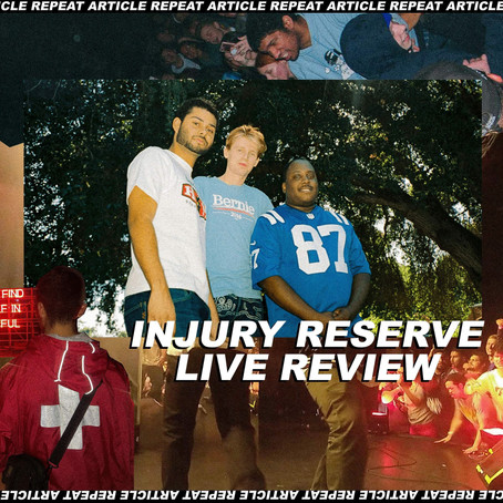 INJURY RESERVE @ HEADROW HOUSE LEEDS REVIEW