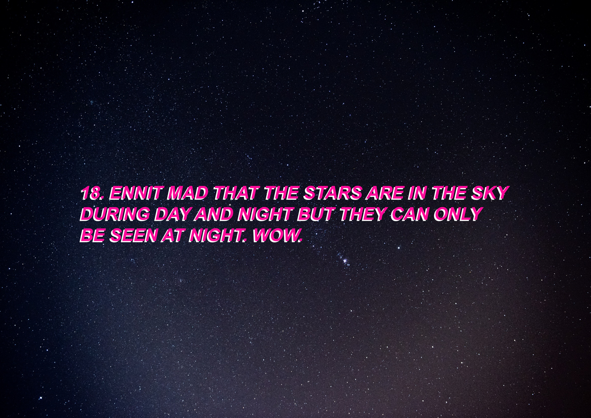 DON'T BELIEVE IN STARS