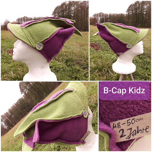 B-Cap Kidz, duoColor, Himbeere/Grün, 2 Jahre 48-50cm
