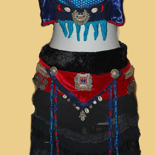 tribal-belly-dance-costume, tanzkostüm, bauchtanz, bellydance, 3-teilig