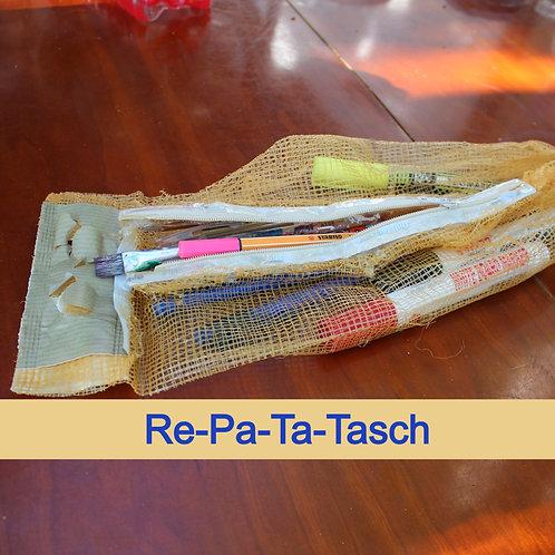 """""""Re-Pa-Ta-Tasch"""" Füllhalter(Pinsel)aus recycleten Verpackungen"""