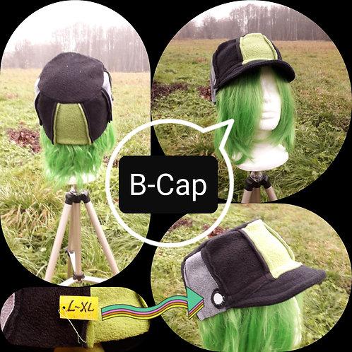 B-Cap, flach, triColor, L-XL,unisex, grün/schwarz/grau