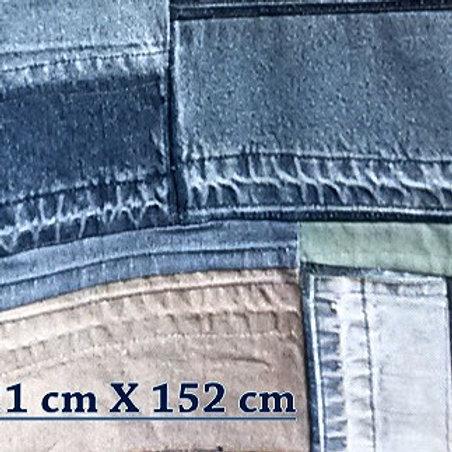 """""""Flick To Patch blue"""" Patchworkdecke doppelseitig/beidseitig beenutzbar, aus blauen Jeansresten, recycled, uocycled, waschbar"""