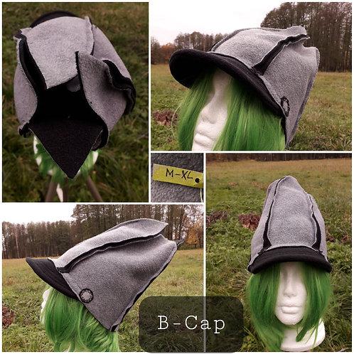 B-Cap grau/schwarz, unisex, M-XL
