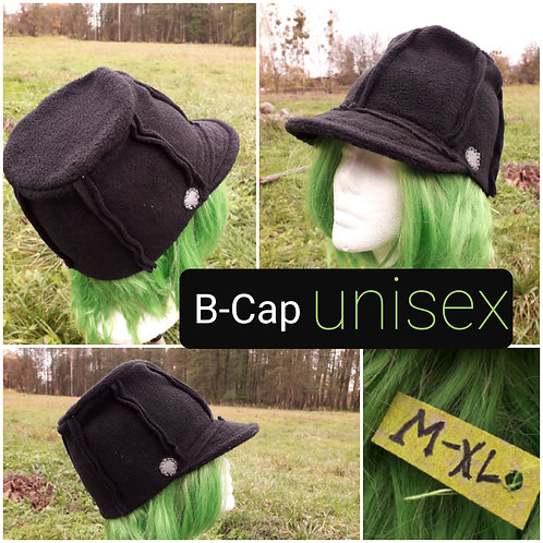 B-Cap flach, schwarz, M-XL