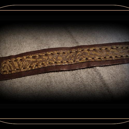 """Moos im Regen"" Lederarmband Unisex, kakaobraun/olivegrün,  handgefertigter Lederarmband, neuwertiges Leder aus einer kleinen"
