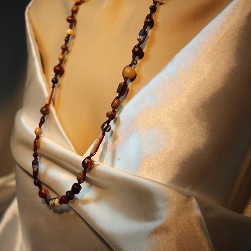 """""""Easy Tribal"""" Halskette, Gemischte Perlenkette für Männer oder einfach nur masculin...Perlen , Samenstücke, teils selbst gesa"""