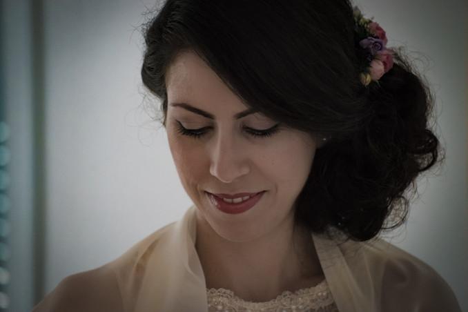 fertig gestylte Braut