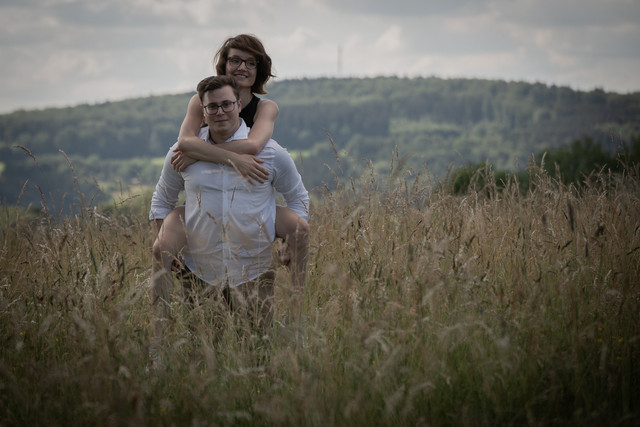 Huckepack mit der Braut