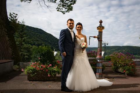 Portraitbild Brautpaar Kloster Deggingen
