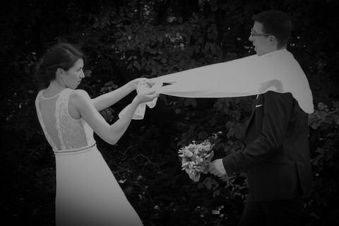 witziges Brautpaar Bild