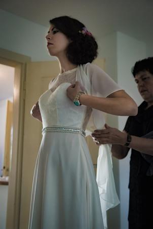 getting ready bei der Braut in Reutlingen