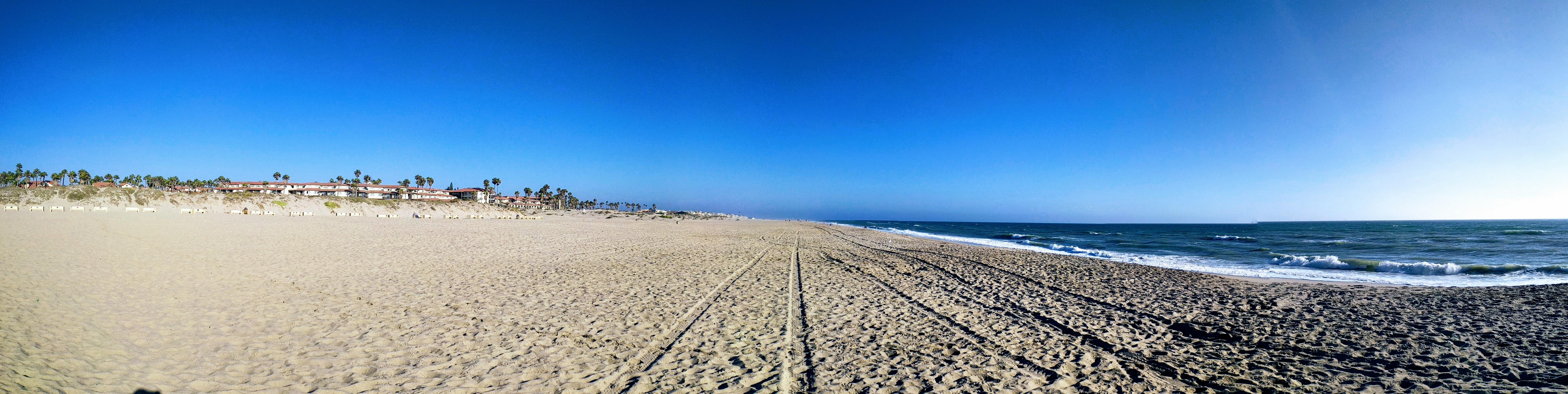 Beach Pano, Blue