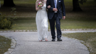 Braut und Brautvater