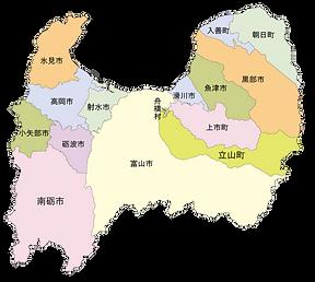 富山県マップ