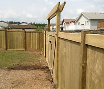 wooden fence with a gate