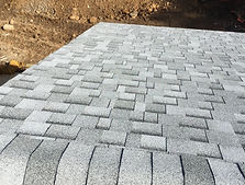 asphalt shingles on a roof