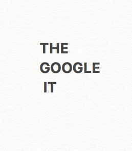 the google it project