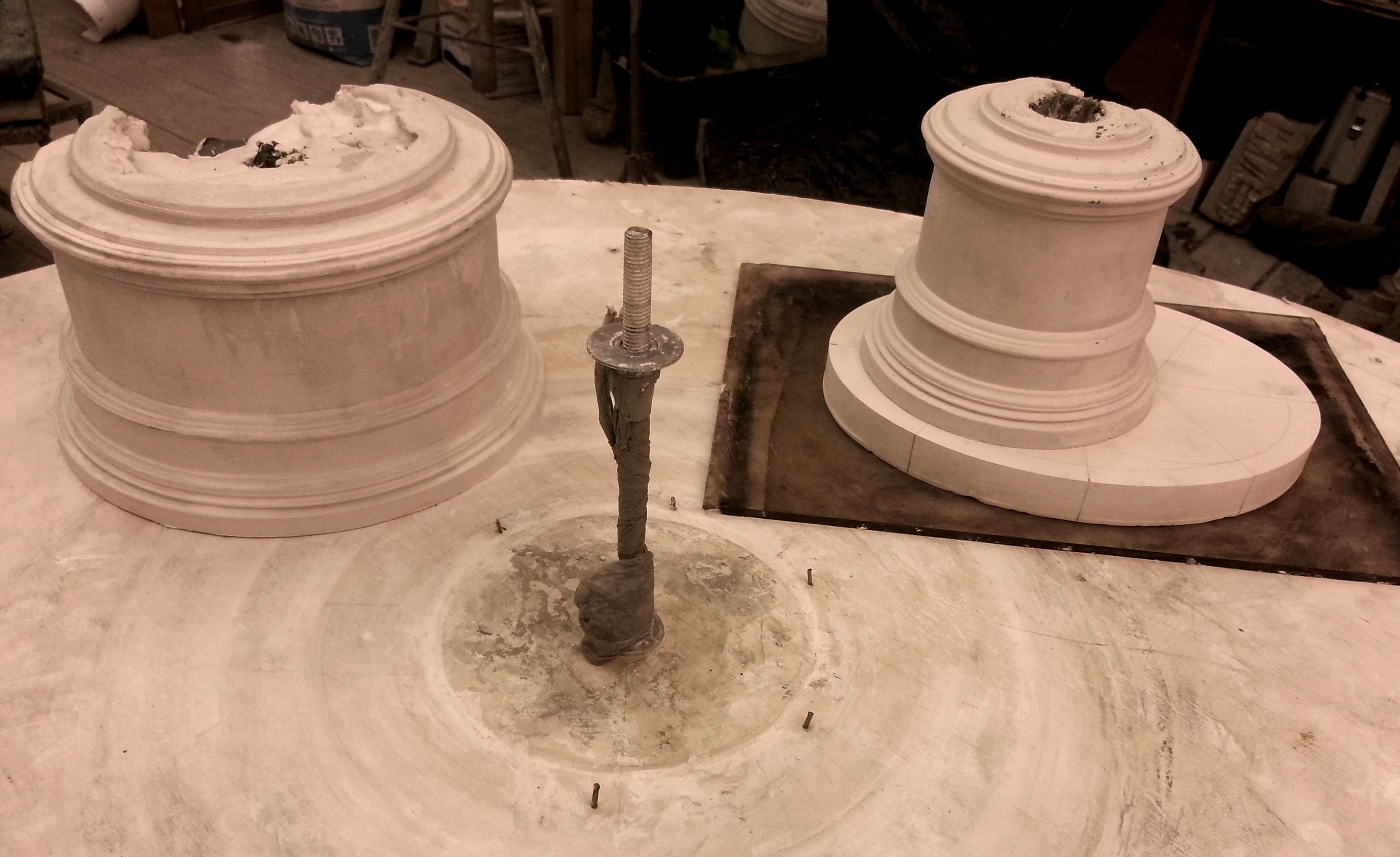 production of pedestal