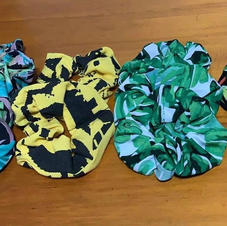 Tropical Scrunchies Large Size £5 each