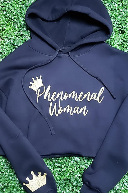 Phenomenal Woman Cropped Hoodie