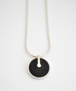 Power button necklace detail