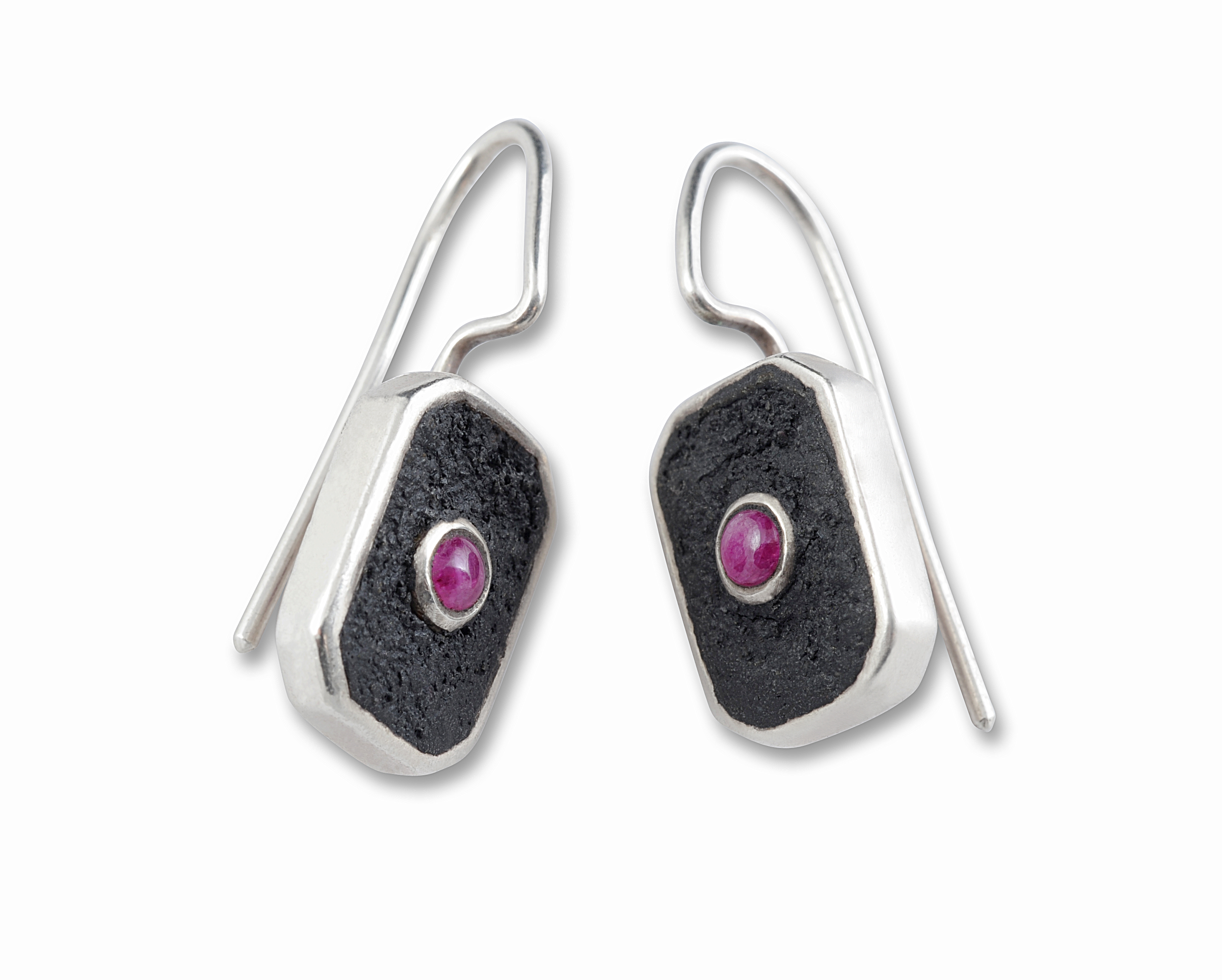 Redesigned ruby earrings