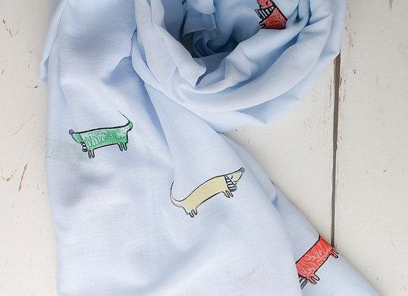 Sausage dog scarf