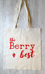 'Berry best' tote shopping bag