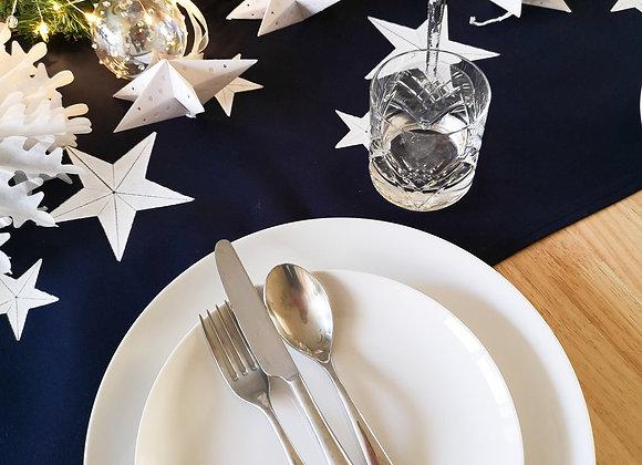 Navy blue 'star' table runner