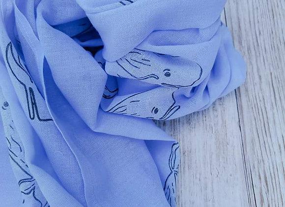 Whale print scarf