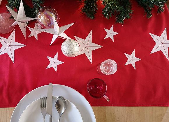 Vibrant red 'star' table runner