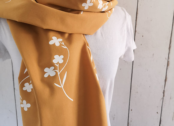 Mustard flower scarf