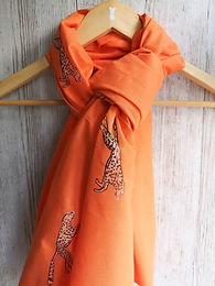 Charity Cheetah print scarf