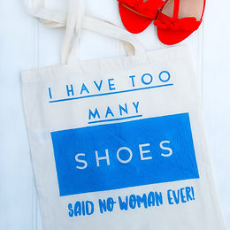 'Shoes' shopping tote bag