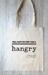 ...'hangry child' tote shopping bag
