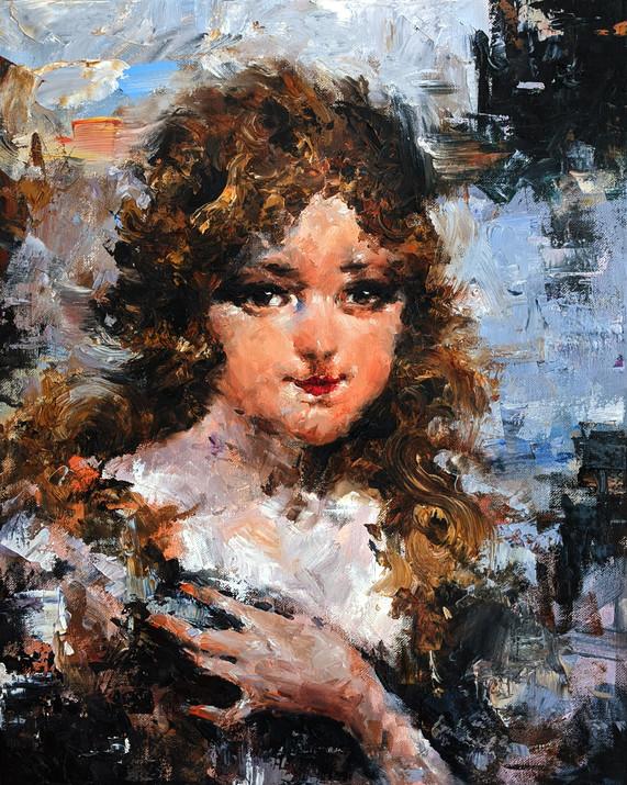 "Study of Nicolai Fechin's ""Young Girl"""
