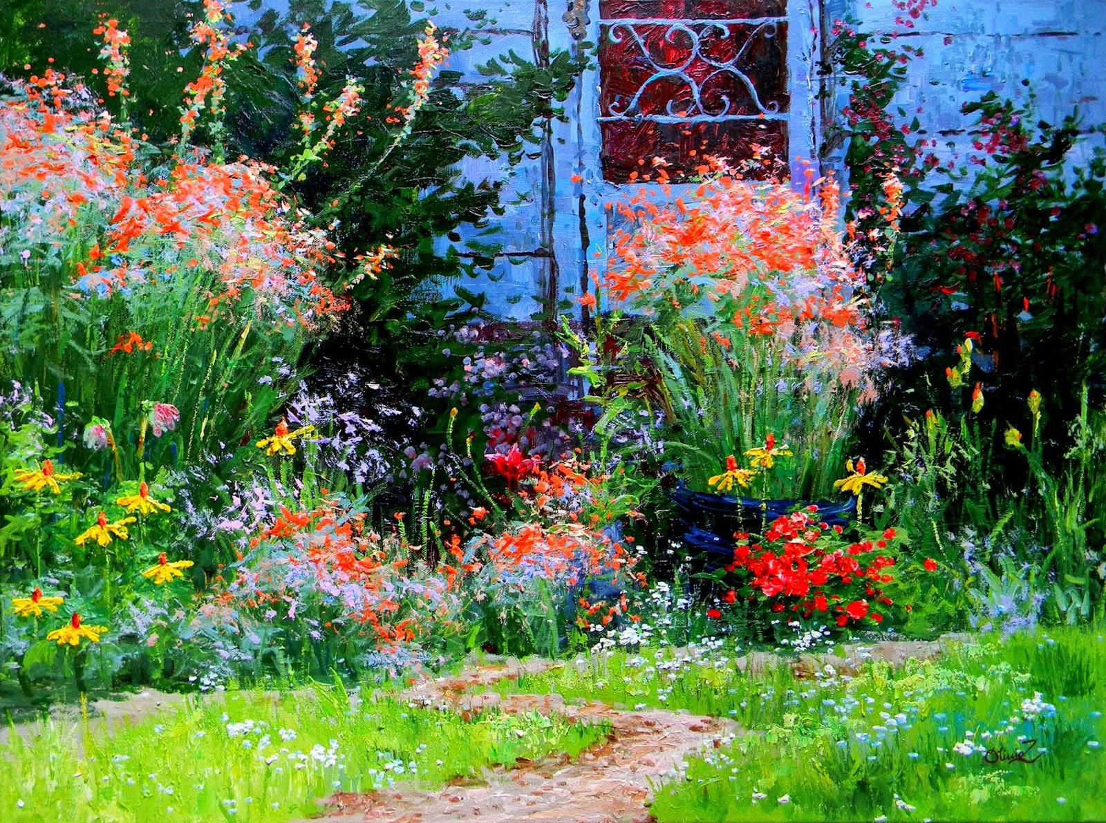 Backyard at Dusk
