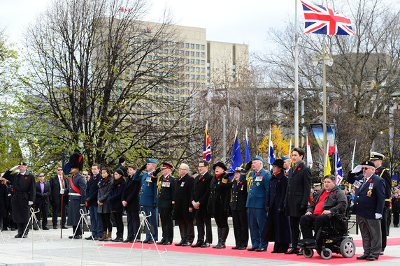 More details can be found in the 2016 Remembrance Day National Memorial Service on CBC News.