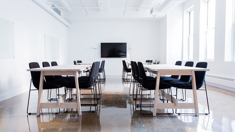 Conference room, video conferencing