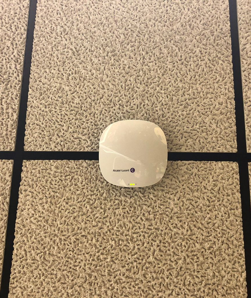 Alcatel-Lucent access point at West Liberty University